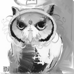 Owl Bird 1 Wrapped Canvas Giclee Print Wall Art