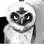 Owl Bird 4 Wrapped Canvas Giclee Print Wall Art