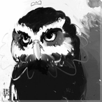 Owl Bird 7 Wrapped Canvas Giclee Print Wall Art