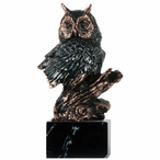 Owl Bust Statue - Dark Copper Finish