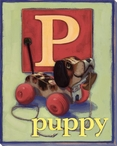 P for Puppy Wrapped Canvas Giclee Print Wall Art