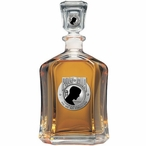 P.O.W. M.I.A Black Capitol Glass Decanter with Pewter Accents