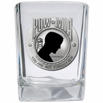 P.O.W. M.I.A Black Pewter Accent Shot Glasses, Set of 4