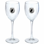 P.O.W. M.I.A Black Pewter Accent Wine Glass Goblets, Set of 2