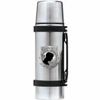 P.O.W. M.I.A Black Stainless Steel Thermos with Pewter Accent