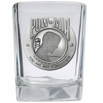 P.O.W. M.I.A Pewter Accent Shot Glasses, Set of 4