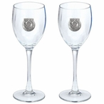 P.O.W. M.I.A Pewter Accent Wine Glass Goblets, Set of 2