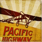 Pacific Highway Plane Wrapped Canvas Giclee Print Wall Art