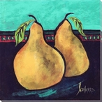Painted Pear II Wrapped Canvas Giclee Print Wall Art