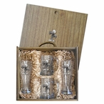 Palm Tree Pilsner Glasses & Beer Mugs Box Set with Pewter Accents