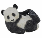 Panda Cub Playing on His Back Sculpture