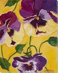 Pansy Flowers Wrapped Canvas Giclee Print Wall Art
