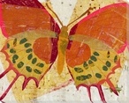 Paper Butterfly One Wrapped Canvas Giclee Print Wall Art