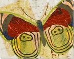 Paper Butterfly Two Wrapped Canvas Giclee Print Wall Art
