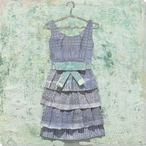 Paper Dress Wrapped Canvas Giclee Print Wall Art