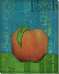 Paper Fruit Peach Wrapped Canvas Giclee Print Wall Art