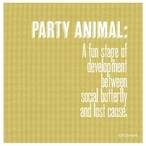 Party Animal Absorbent Beverage Coasters by RJ Smart, Set of 12