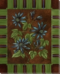 Passion Flower Stripe Wrapped Canvas Giclee Print Wall Art