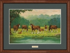 Pastoral Clydesdale Horses Framed Art Print Wall Art