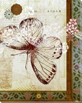 Patterned Butterfly Four Wrapped Canvas Giclee Print Wall Art