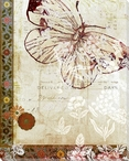 Patterned Butterfly One Wrapped Canvas Giclee Print Wall Art