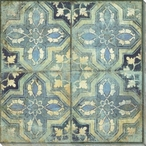 Patterned Tile Block 2 Wrapped Canvas Giclee Art Print Wall Art