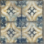 Patterned Tile Block 3 Wrapped Canvas Giclee Art Print Wall Art