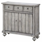 Paxton 3 Drawer with 2 Door White Oak Cabinet