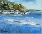 Peace and Quiet Coast View Wrapped Canvas Giclee Print Wall Art
