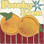 Peachy Keen Wrapped Canvas Giclee Print Wall Art
