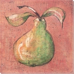 Pear with a Long Stem Wrapped Canvas Giclee Print Wall Art