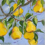 Pears on the Tree Wrapped Canvas Giclee Print Wall Art