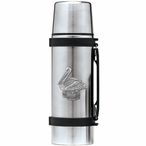Pelican Bird Stainless Steel Thermos with Pewter Accent