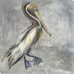 Pelican Bird Wrapped Canvas Giclee Print Wall Art