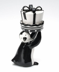 Penguin Holding a Christmas Present Salt and Pepper Shakers, Set of 4