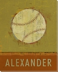 Personalized Baseball Wrapped Canvas Giclee Print Wall Art