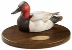 Personalized Canvasback Duck Quarter Life-Size Hand Painted Sculpture