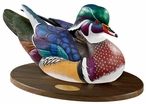 Personalized Swan Lake Wood Duck Life-Size Hand Painted Sculpture