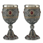 Pewter Holy Grail Chalices, Set of 2