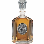 Pheasant Capitol Glass Decanter with Pewter Accents