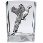 Pheasant Pewter Accent Shot Glasses, Set of 4