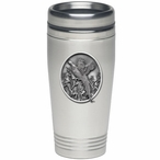 Pheasant Stainless Steel Travel Mug with Pewter Accent