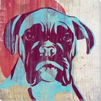 Pick the Boxer Dog Wrapped Canvas Giclee Print Wall Art