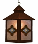 Picture Jasper Stone Metal Lantern Pendant Light