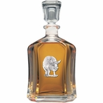 Pig Capitol Glass Decanter with Pewter Accents