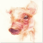 Piglet Wrapped Canvas Giclee Print Wall Art