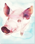 Pigs Fly Wrapped Canvas Giclee Print Wall Art