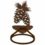 Pine Cone Metal Bath Towel Ring