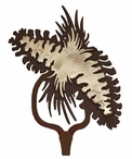 Pine Cones Burnished Large Single Metal Wall Hook