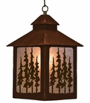 Pine Tree Forest Metal Lantern Pendant Light